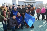 Представители администрации,  Студсовета и профкома приняли участие в митинге