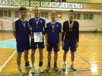 Поздравляем команду юношей по волейболу