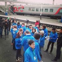 Волонтеры ЧИ БГУЭП встречали «ВГИК-95»